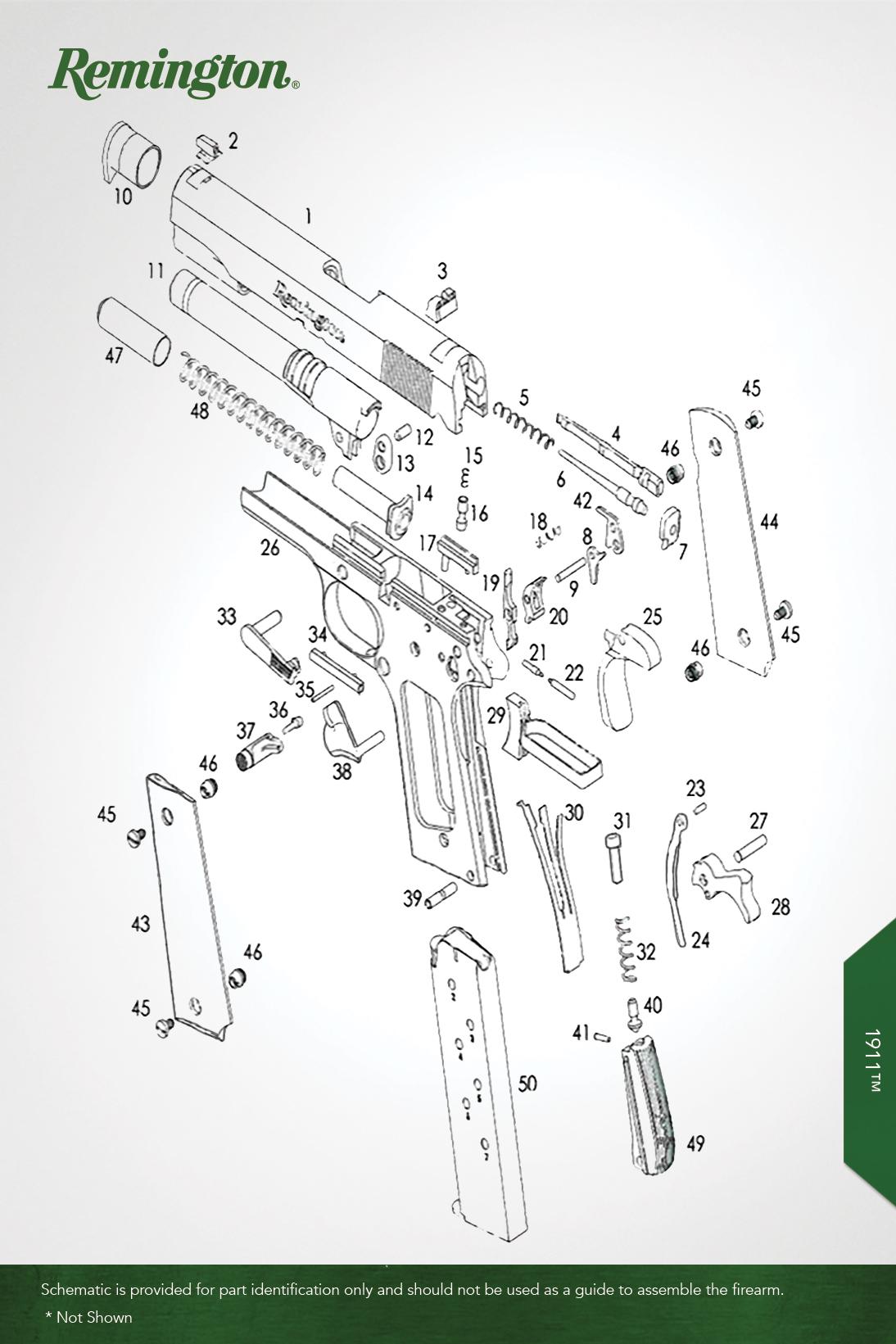 1911™ / 1911™ R1 SS - Handguns - Remington® - OEM Parts on shotgun schematics or diagrams, revolver schematics diagrams, handgun schematics and how it works,
